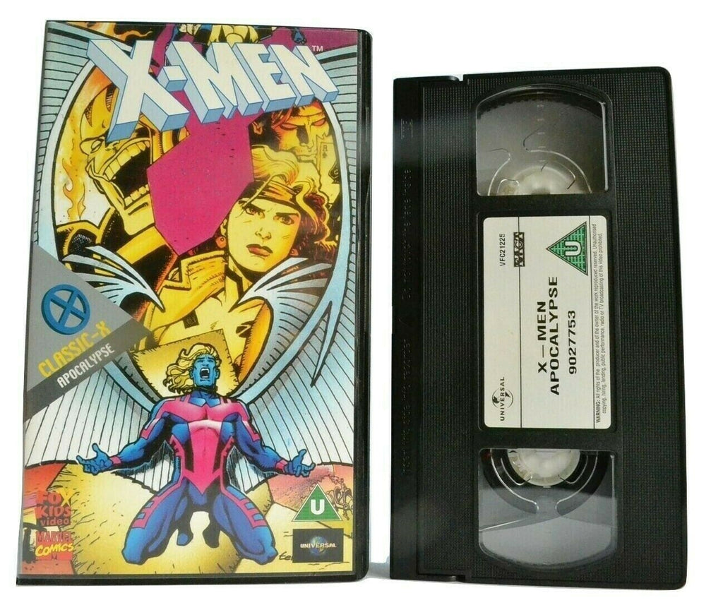 X-Men: Classic X Apocalypse - Marvel Comics - Animated Adventures - Kids - VHS