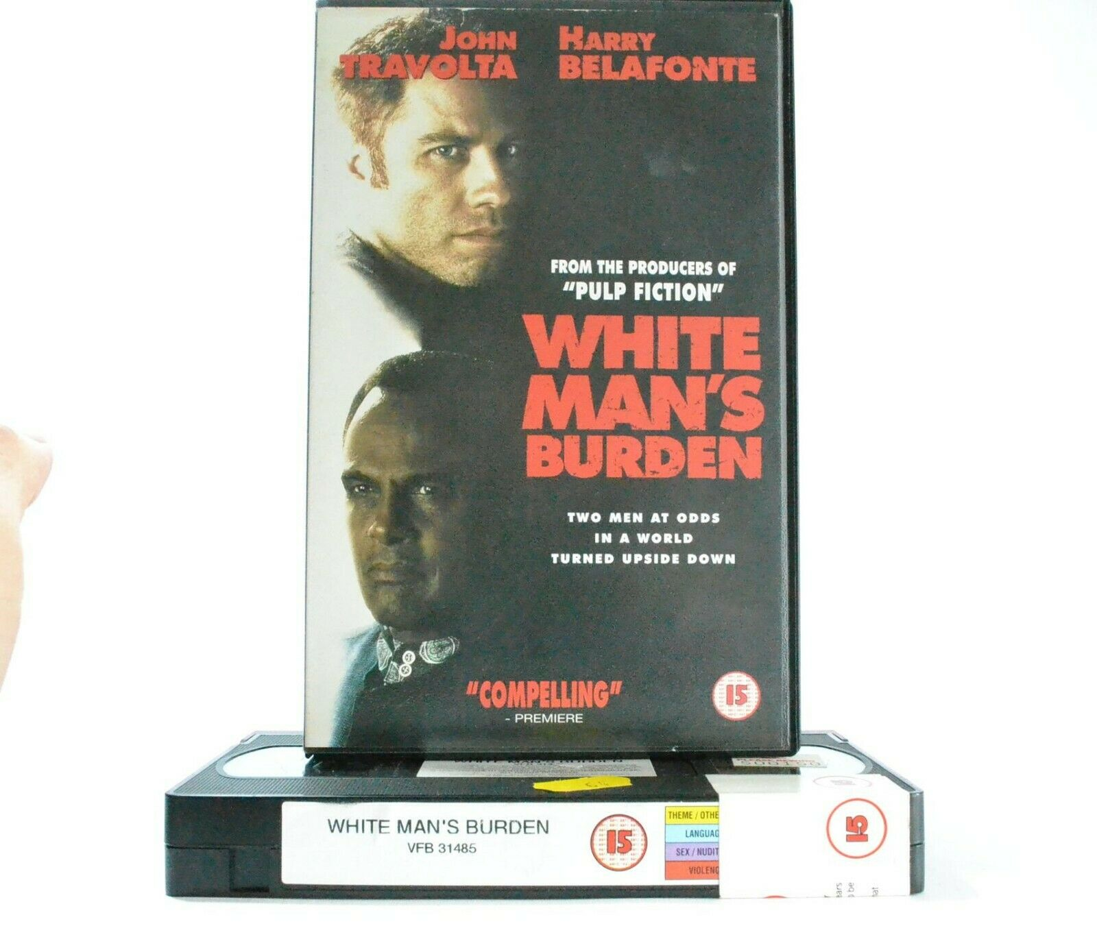 White Man's Burden: Drama (1995) - Large Box - Reversed Cultural Roles - Pal VHS
