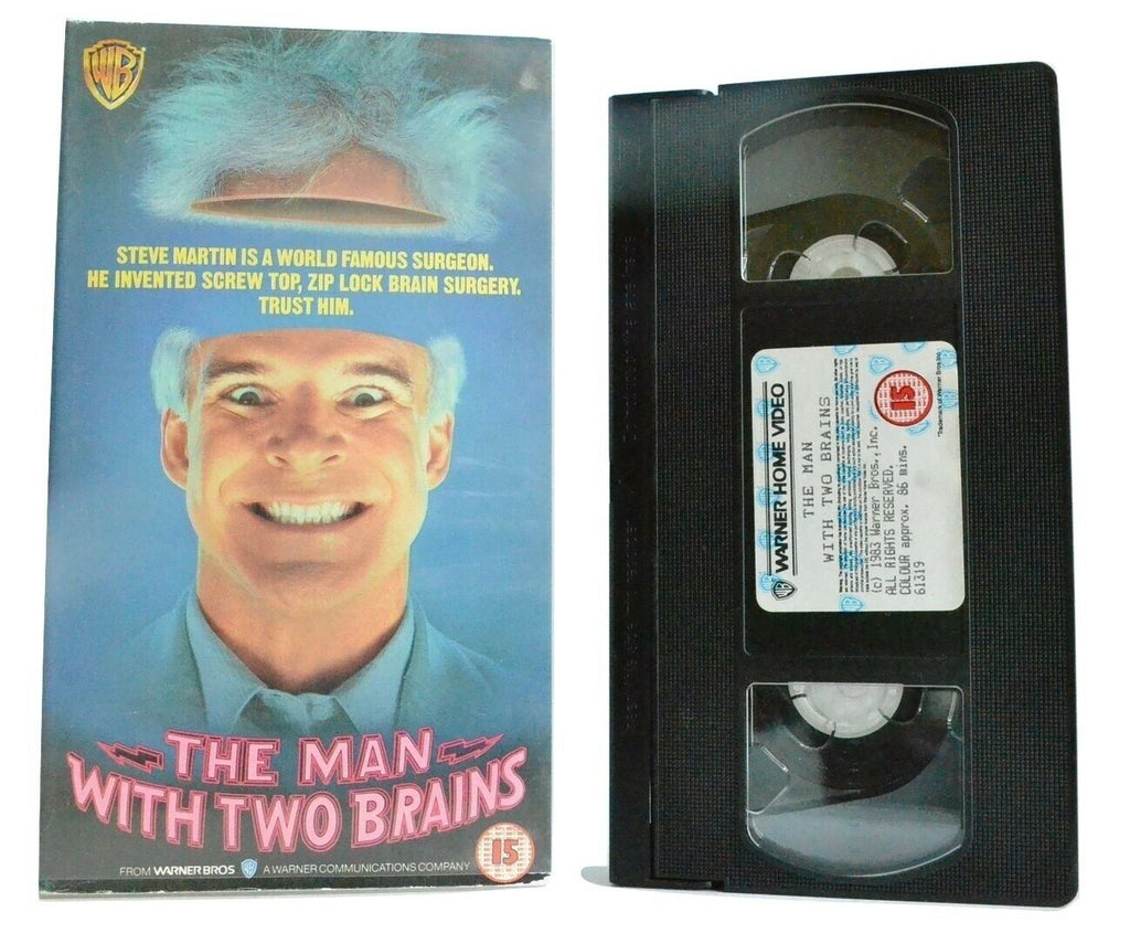 The Man With Two Brains: Fantasy Comedy - Steve Martin/KathleenTurner - Pal VHS