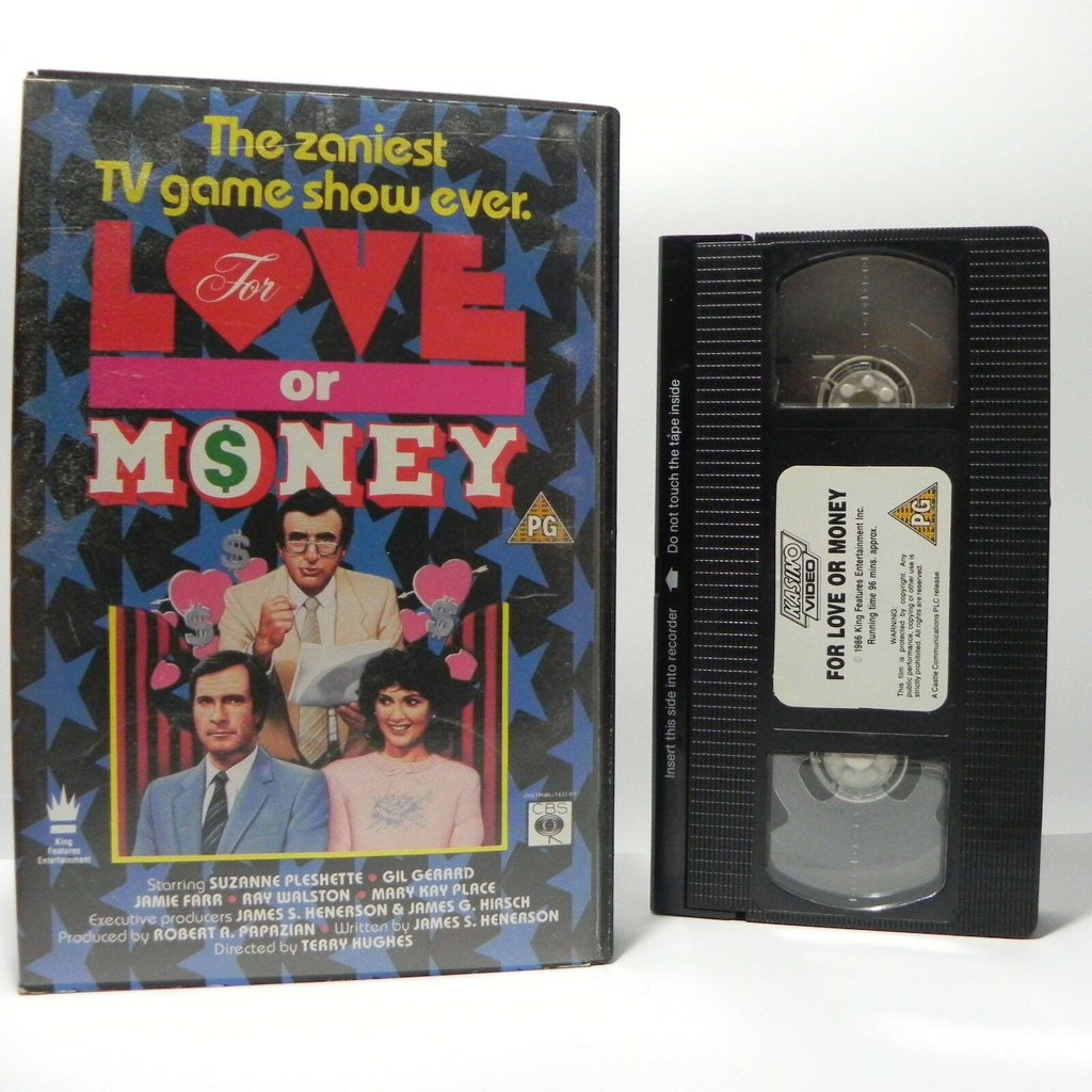 For Love Or Money: Crazy TV Game Show - (1986) Comedy - Large Box - Pal VHS