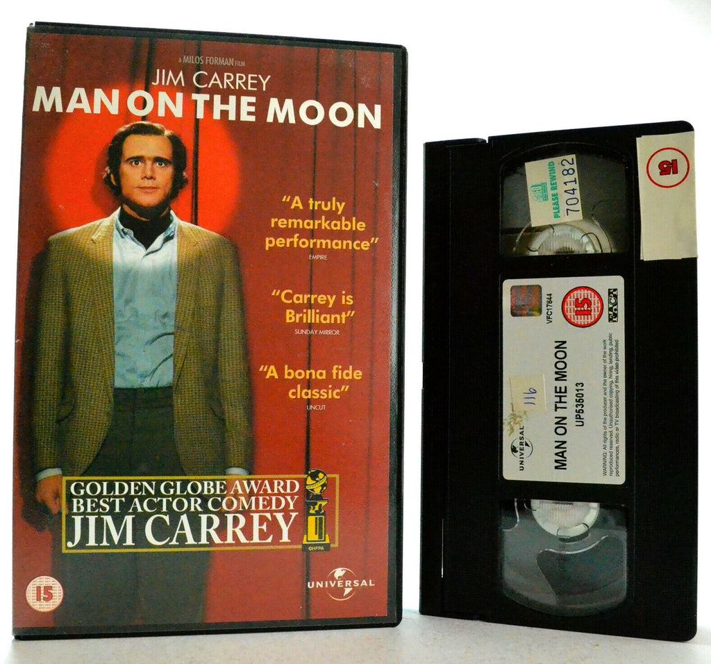 Man On The Moon: A M.Forman Film - Comedy/Drama - Large Box - J.Carrey - Pal VHS