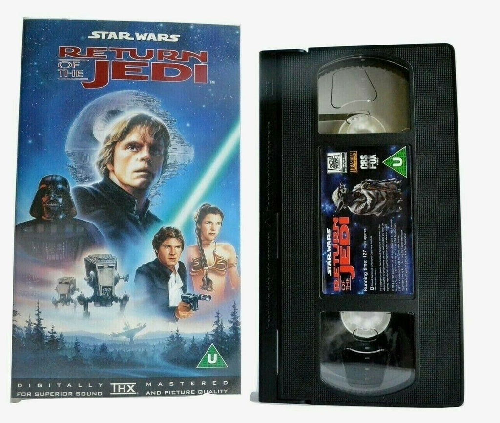 Star Wars: Return Of The Jedi (1983) - THX Mastered - Epic Space Opera - Pal VHS