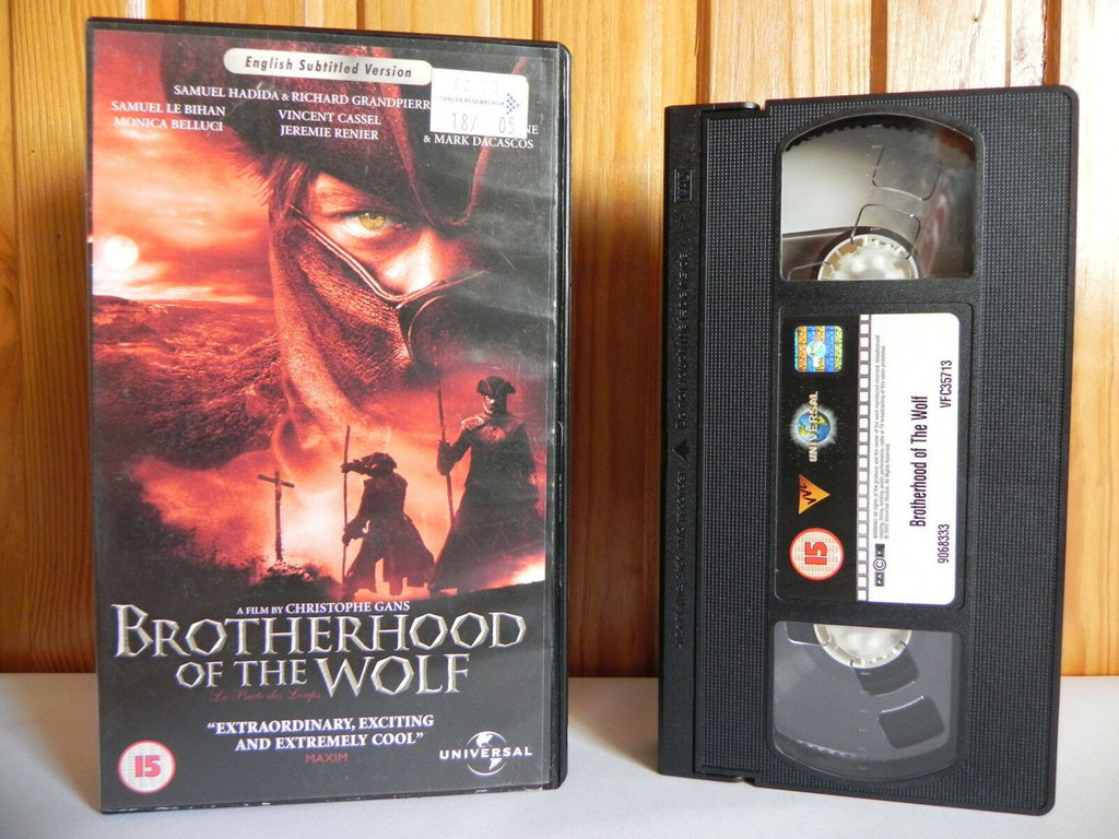 15, 2002, Action, Action & Adventure, Belluci, Brotherhood, Christophe Gans, Monica, Monica Bellucci, No, Of, Pal, The, Universal, VHS, Werewolf, Wolf