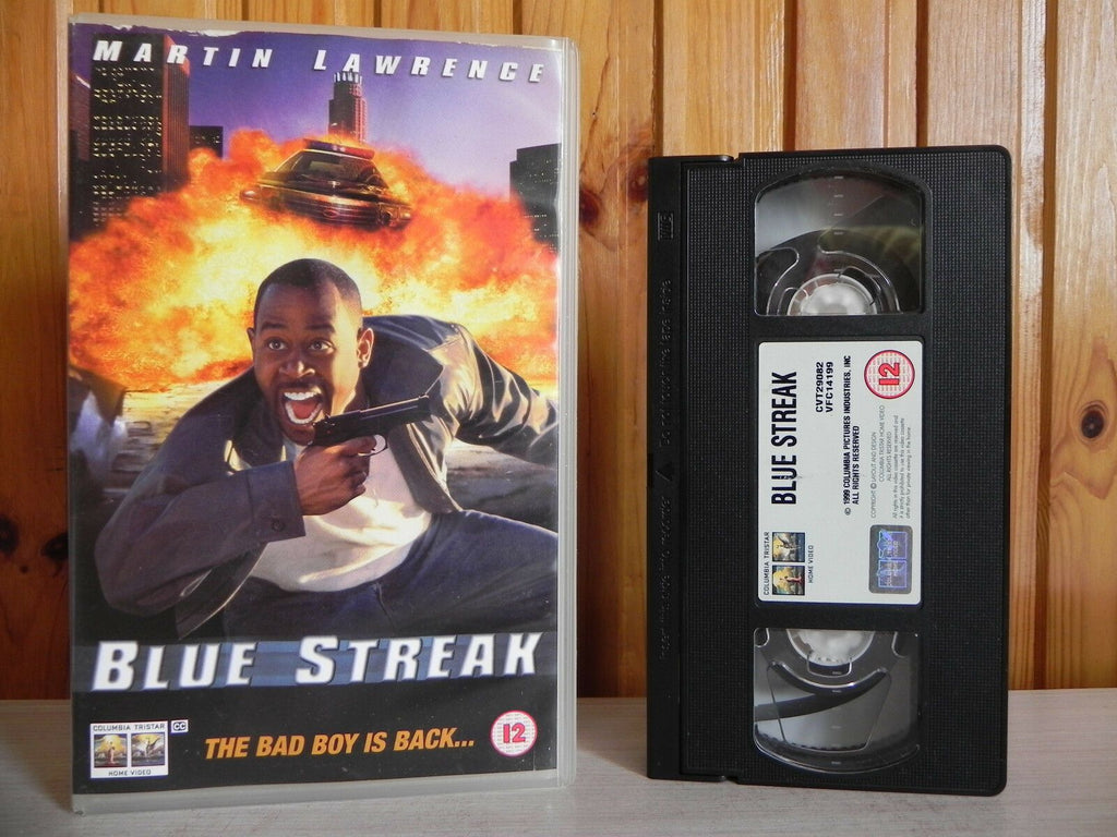 Blue Streak - Large Box - Columbia - Comedy - Action - Martin Lawrence - Pal VHS