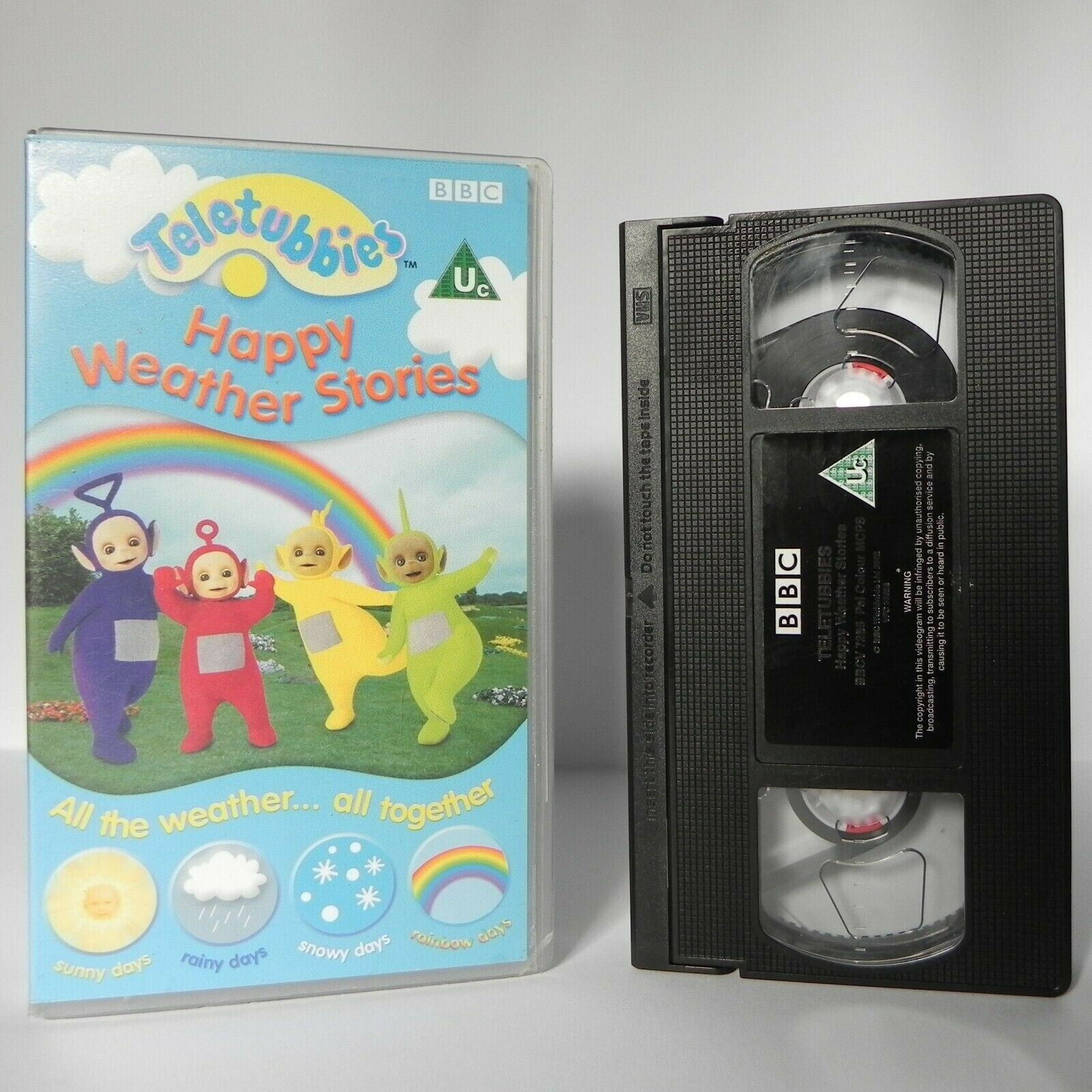 Teletubbies: Happy Weather - Co-ordinating Looking & Listening - Children - VHS
