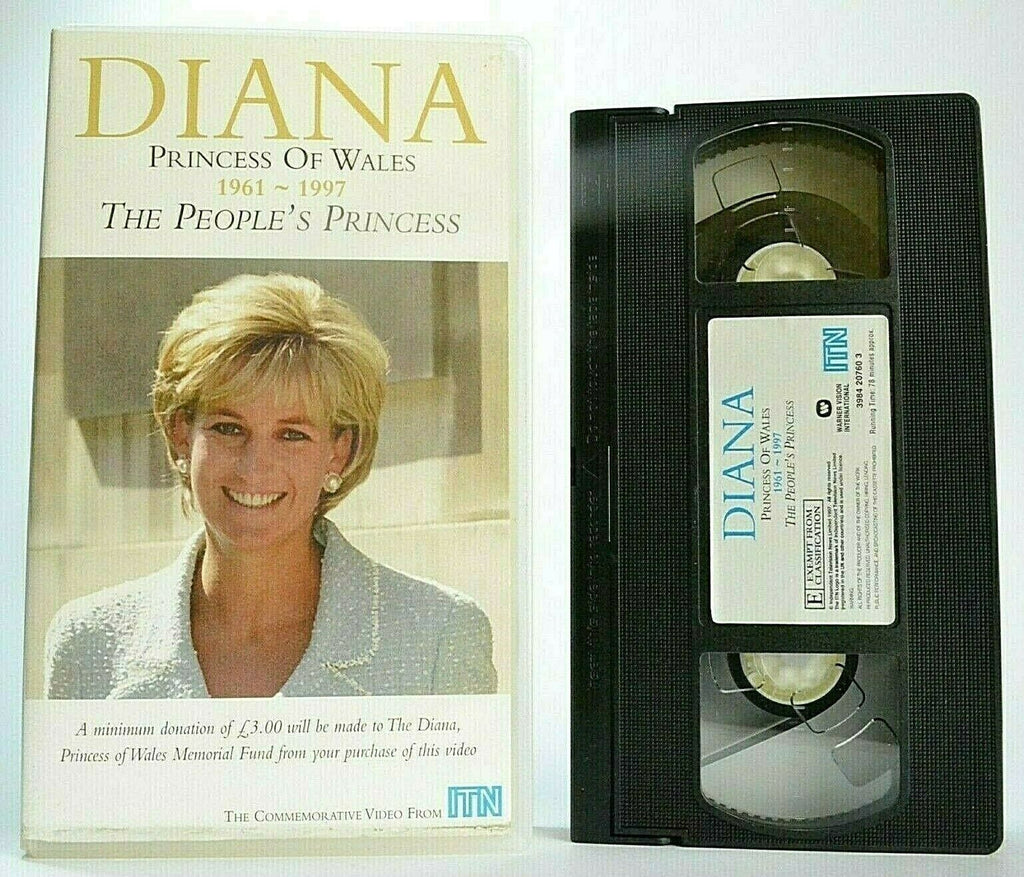 Diana: Princess Of Wales (1961-1997) -<Trevor McDonald>- Documentary - Pal VHS