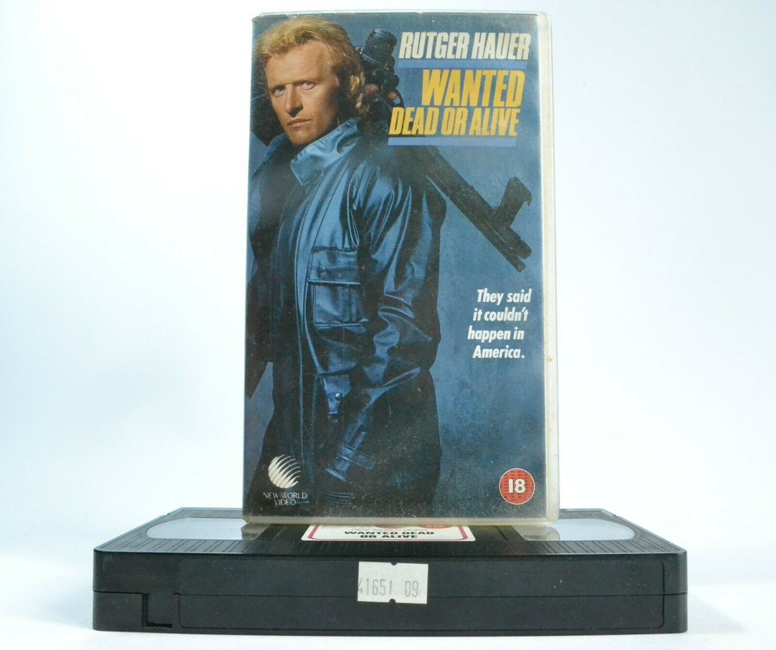 Wanted Dead Or Alive (1987) -<New World Video>- Action - Rutger Hauer - Pal VHS