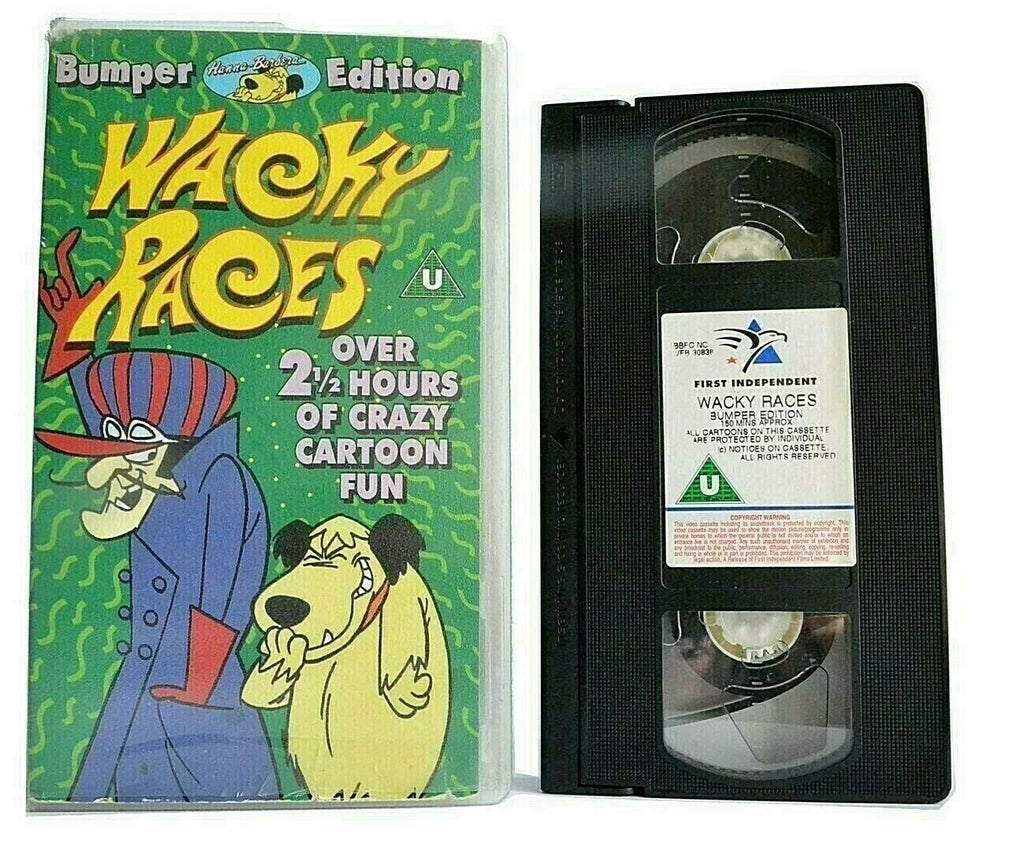 Wacky Races: Bumper Edition - Hanna-Barbera - Animated Adventures - Kids - VHS