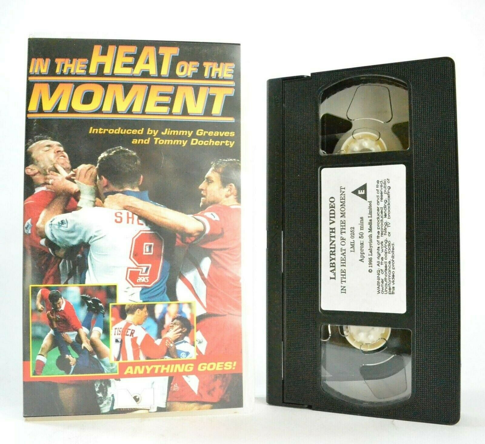 In The Heat Of The Moment: By J.Greaves/T.Docherty - Football - Sports - Pal VHS