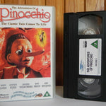 The Adventures Of Pinocchio - PolyGram - Martin Landrau - Genevieve Bujold - VHS