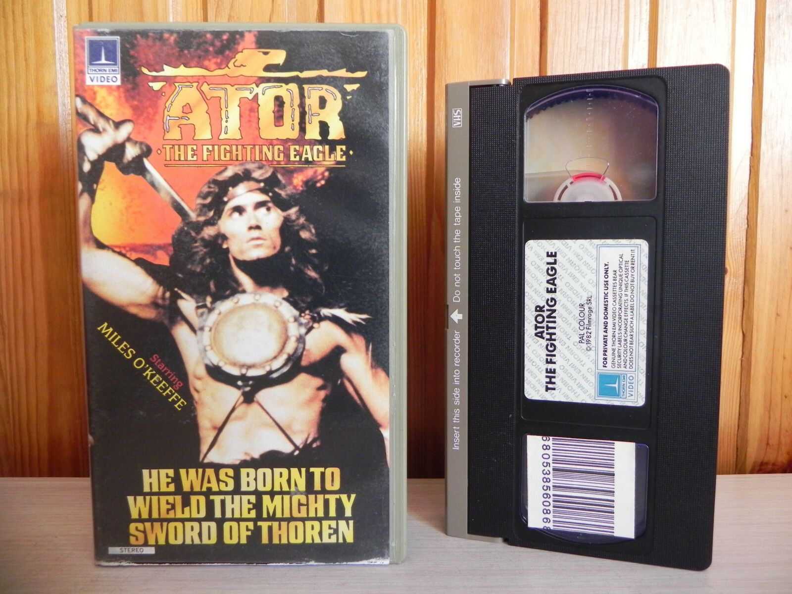 1982, Action & Adventure, Ator, Ator The Fighting Eagle, Big, Box, Cert, Eagle, Ex, Fantasy, Fighting, Joe D'Amato, Miles, Miles O'Keeffe, PAL, PG, Pre, Pre Cert, Rental, Sabrina Siani, The, United States, VHS