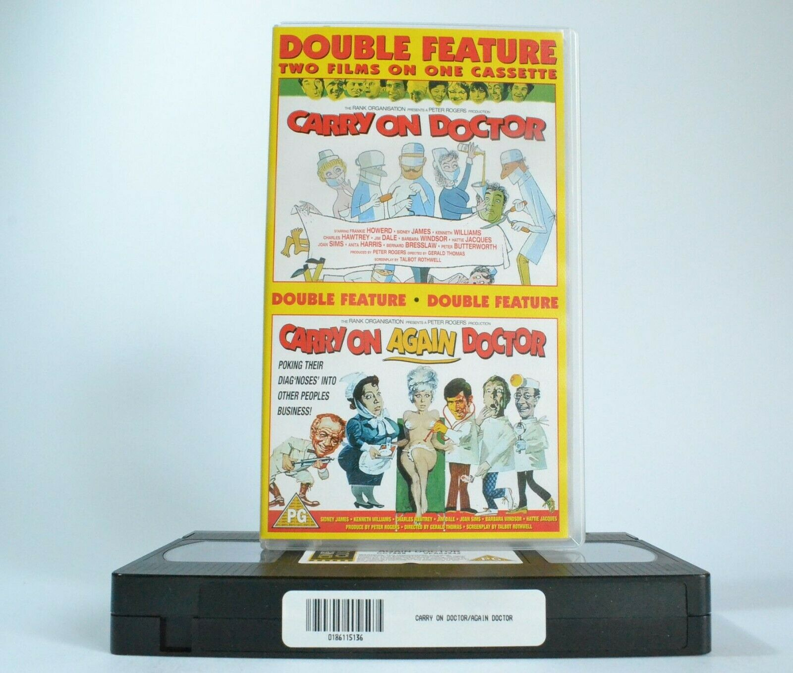 2x Carry On: Doctor (1967) / Again Doctor (1969) - Comedy - Joan Sims - Pal VHS