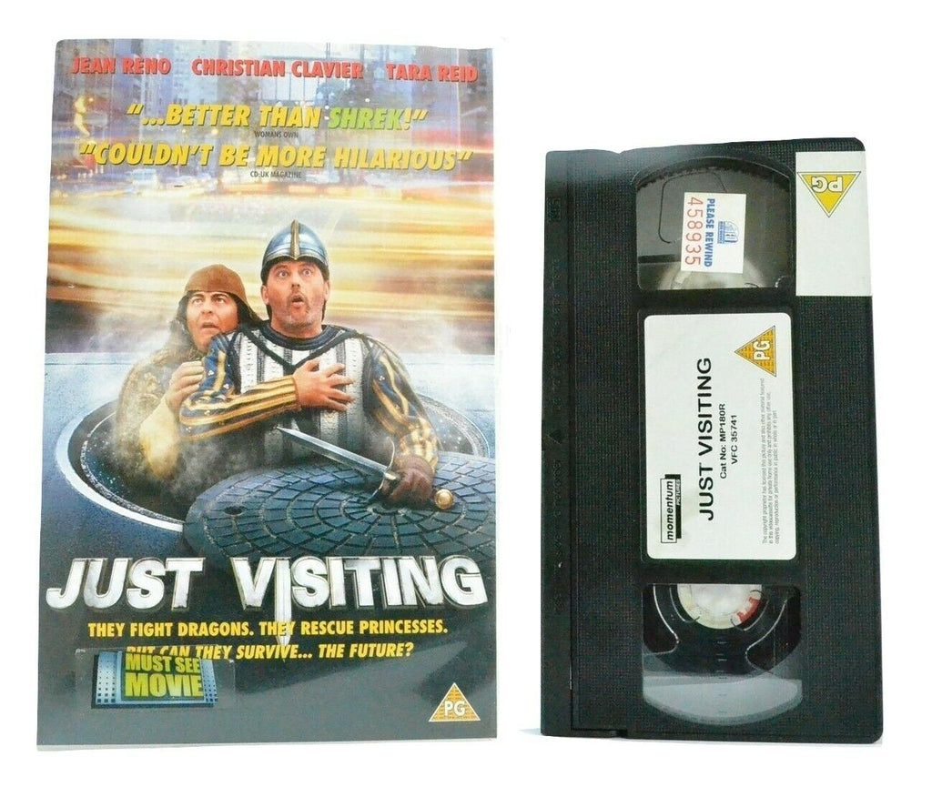 Just Visiting: French/American Comedy - Large Box - J.Reno/C.Applegate - Pal VHS