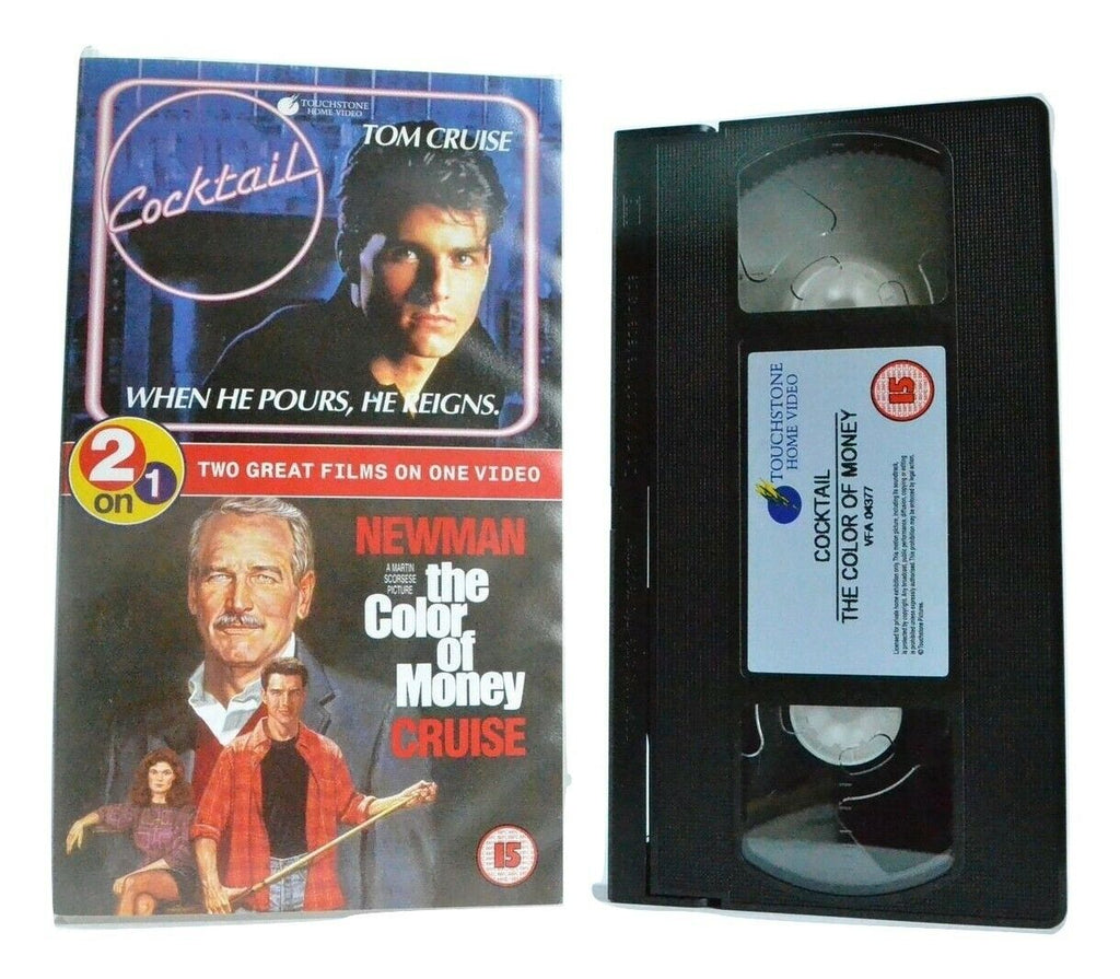 Cocktail/The Color Of Money: Movie Double Feature - Drama - Tom Cruise - Pal VHS