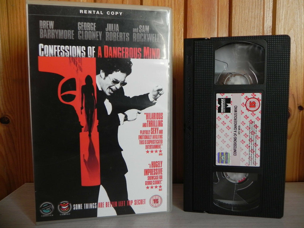 Confessions Of A Dangerous Mind - Hitman Action Drama - Big Box Rental - Pal VHS