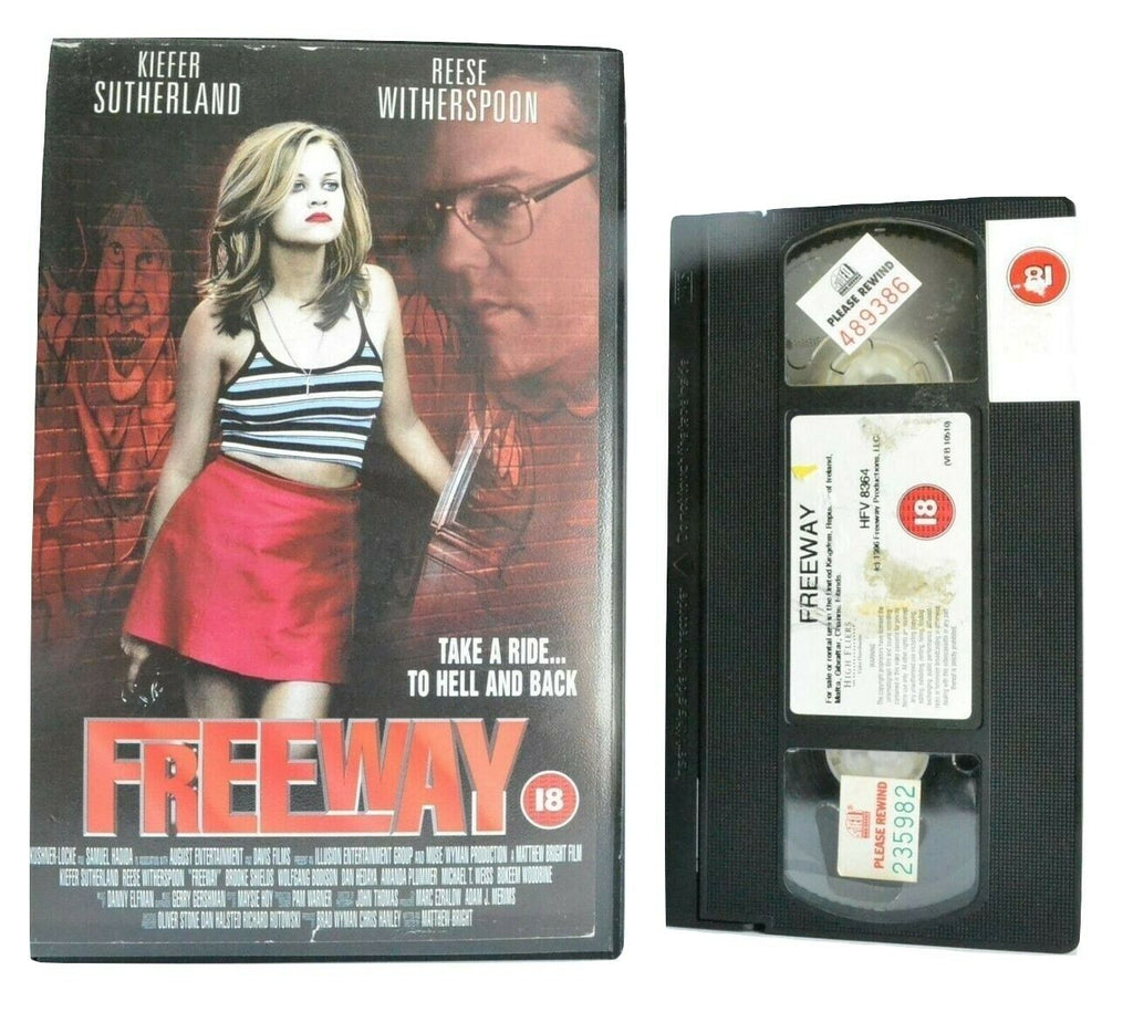 Freeway (1996): Crime Drama - Large Box - K.Sutherland/R.Witherspoon -Pal VHS