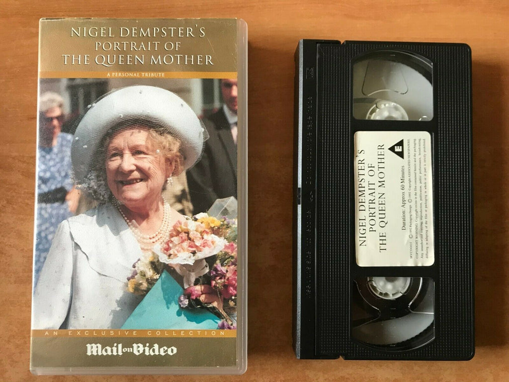 Poirtrait Of The Queen Mother [Personal Tribute] Nigel Dempster - Pal VHS
