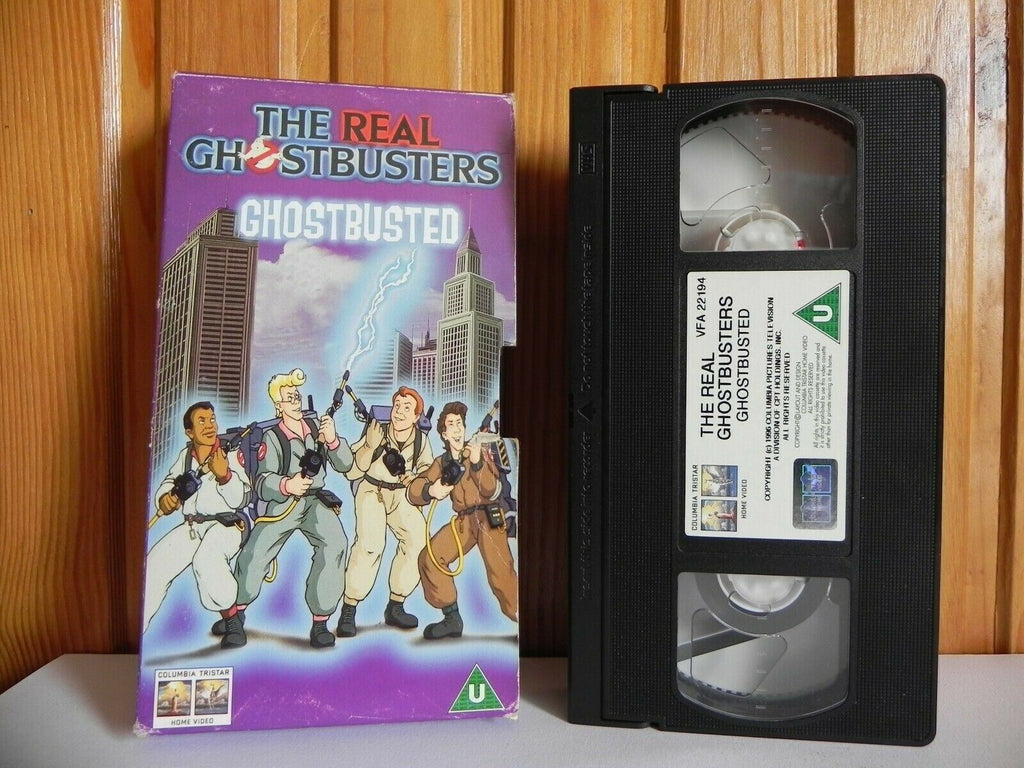 The Real Ghostbusters - Columbia Tristar - Ghostbusted - Animated - Kids - VHS
