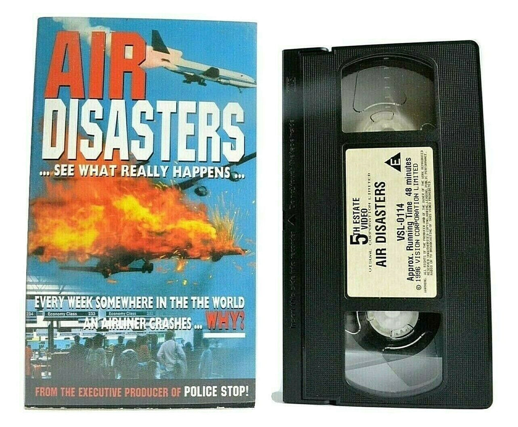 Air Disasters [Documentary] -<David Learmount>- [ Planes Crashes ] - Pal VHS