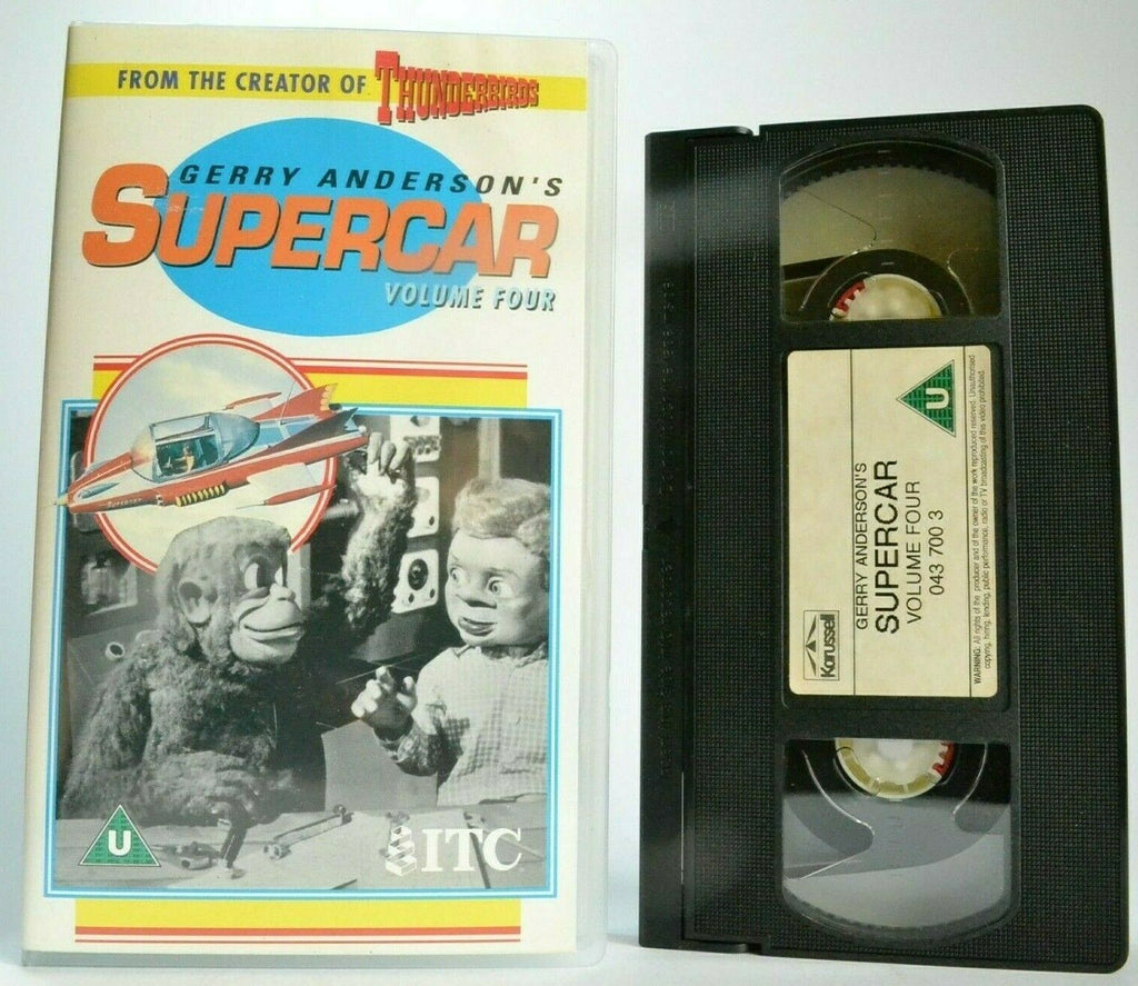 Supercar (Vol. 4); [Gerry Anderson] Deep Seven - Sci-Fi - Animated - Kids - VHS