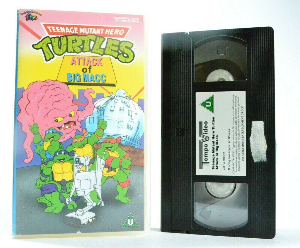 Teenage Mutant Hero Turtles: Attack Of Big Macc - Animated - Children's - VHS