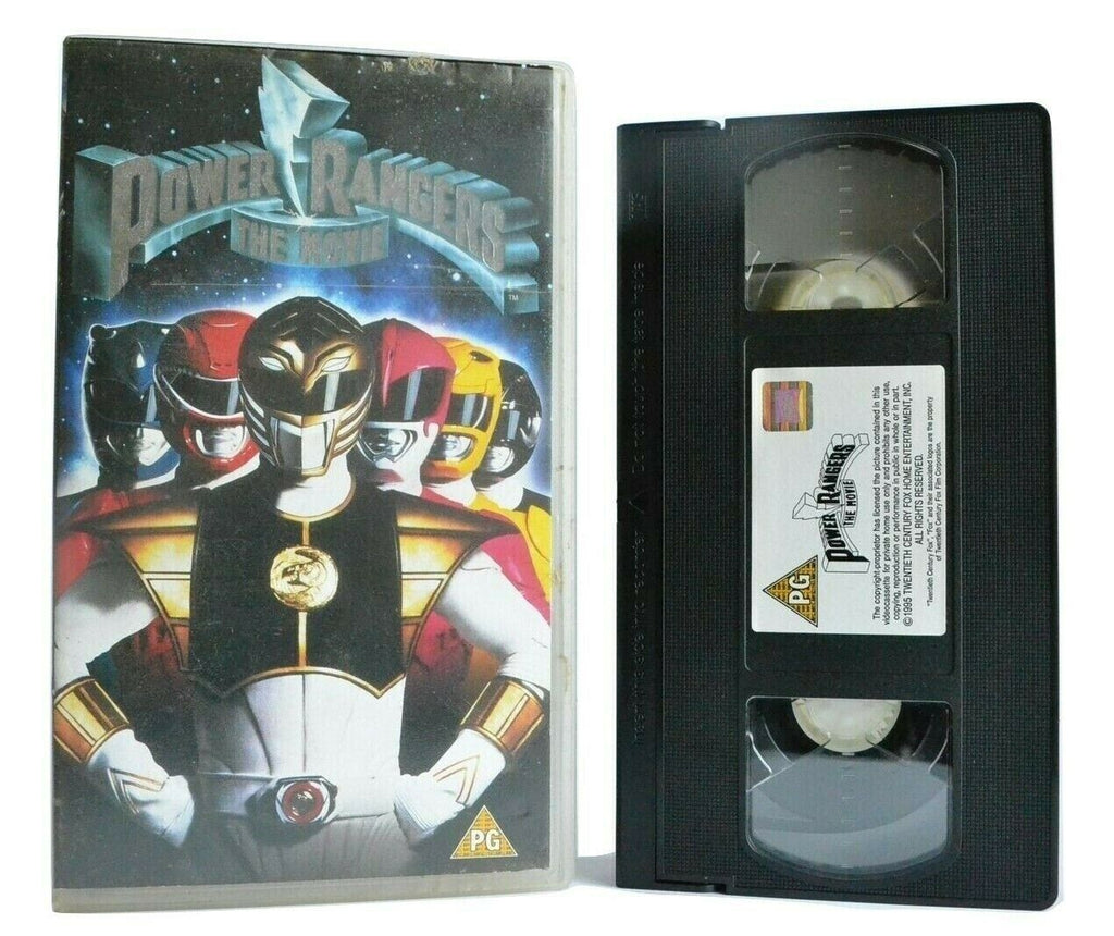 Power Rangers: The Movie - Based On TV Series - Superhero Film - Kids - Pal VHS