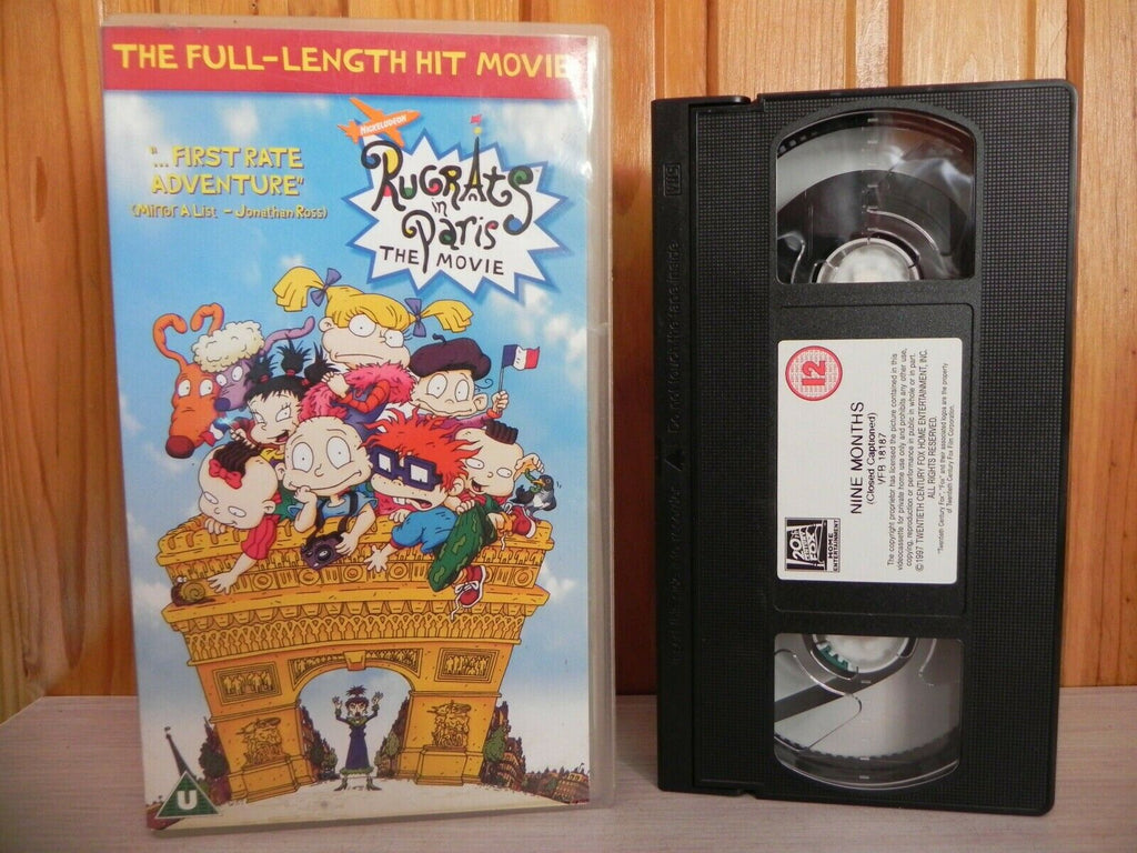 RUG RATS - PARIS THE MOVIE - PRESCHOOL KIDS VIDEO - CHILDREN RUGRATS - PAL VHS