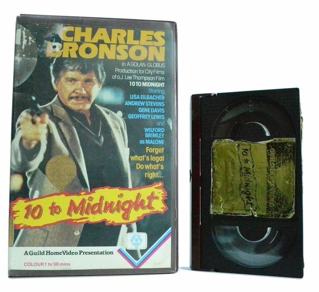 10 To Midnight: (1983) Psychotic Killer/Crime Thriller - Charles Bronson - Beta