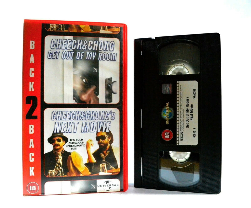 Cheech And Chong: Get Out Of My Room/Next Movie - 2 On 1 Stoner Comedy- Pal VHS