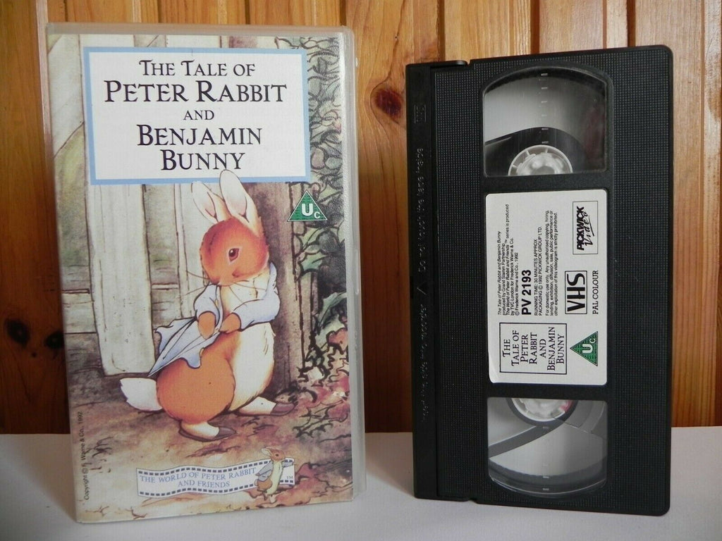The Tale Of Peter Rabbit And Benjamin Bunny - Animated - Adventutres - Pal VHS