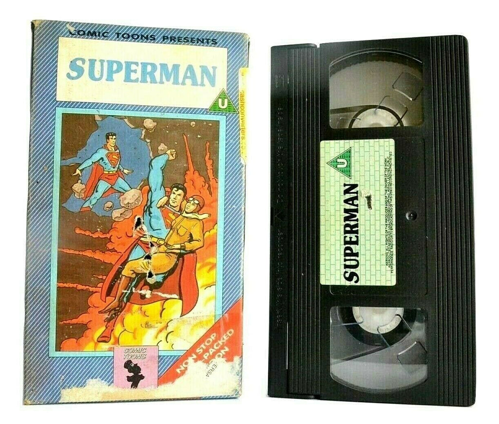 Superman (Comic Toons): Carton Box - Animated - Action Adventures - Kids - VHS