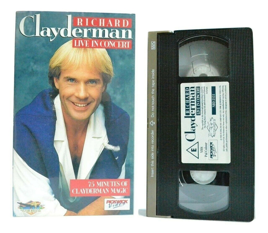 Richard Clayderman: Live In Concert - French Pianist - Magic Music - Pal VHS