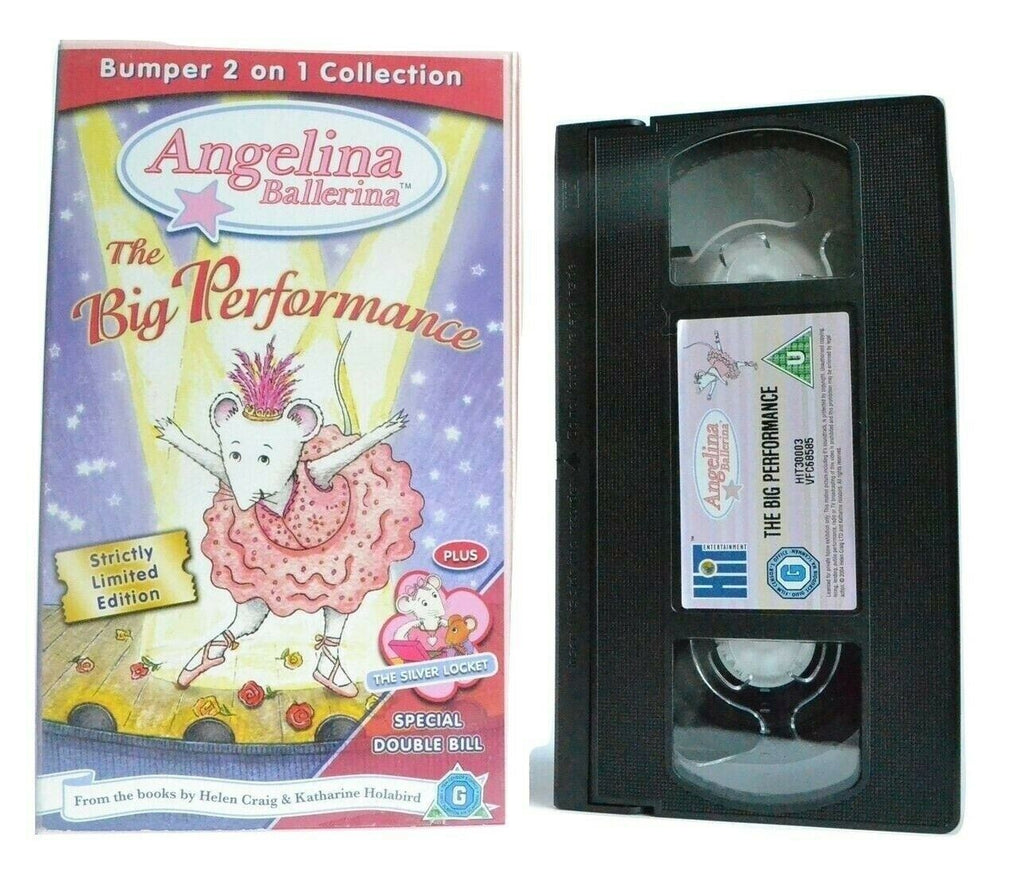 Angelina Ballerina: The Big Performance - Bumper Collection - Animated - Pal VHS