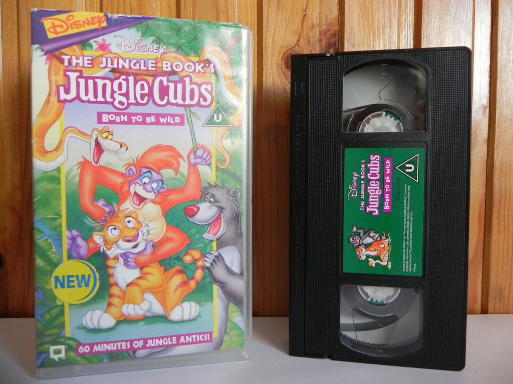 The Jungle Book's Jungle Cubs: Born To Be Wild - Disney - Animated - Kids - VHS