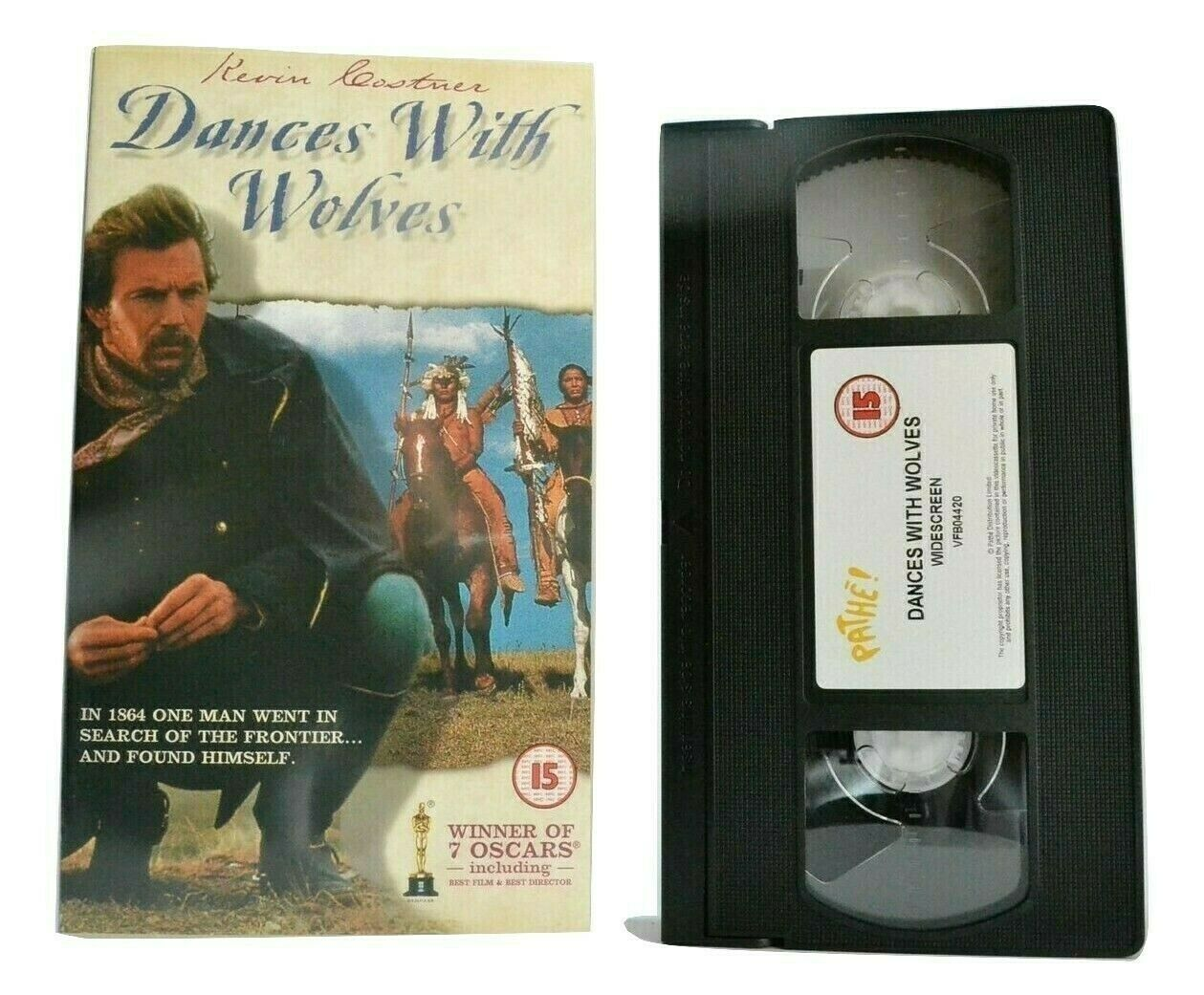 Dances With Wolves (1990); <Widescreen> - Western - Kevin Costner - Pal VHS