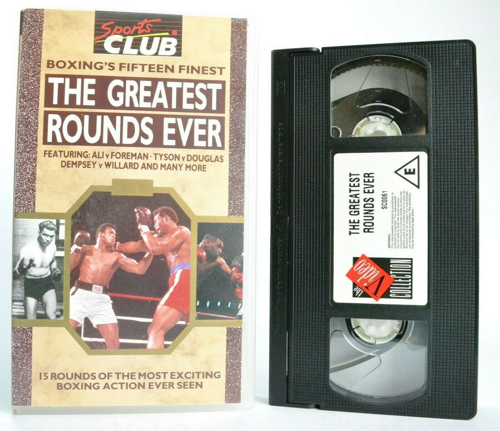 The Greatest Rounds Ever: Boxing's Fifteen Finest - Ali/Foreman/Tyson - Pal VHS