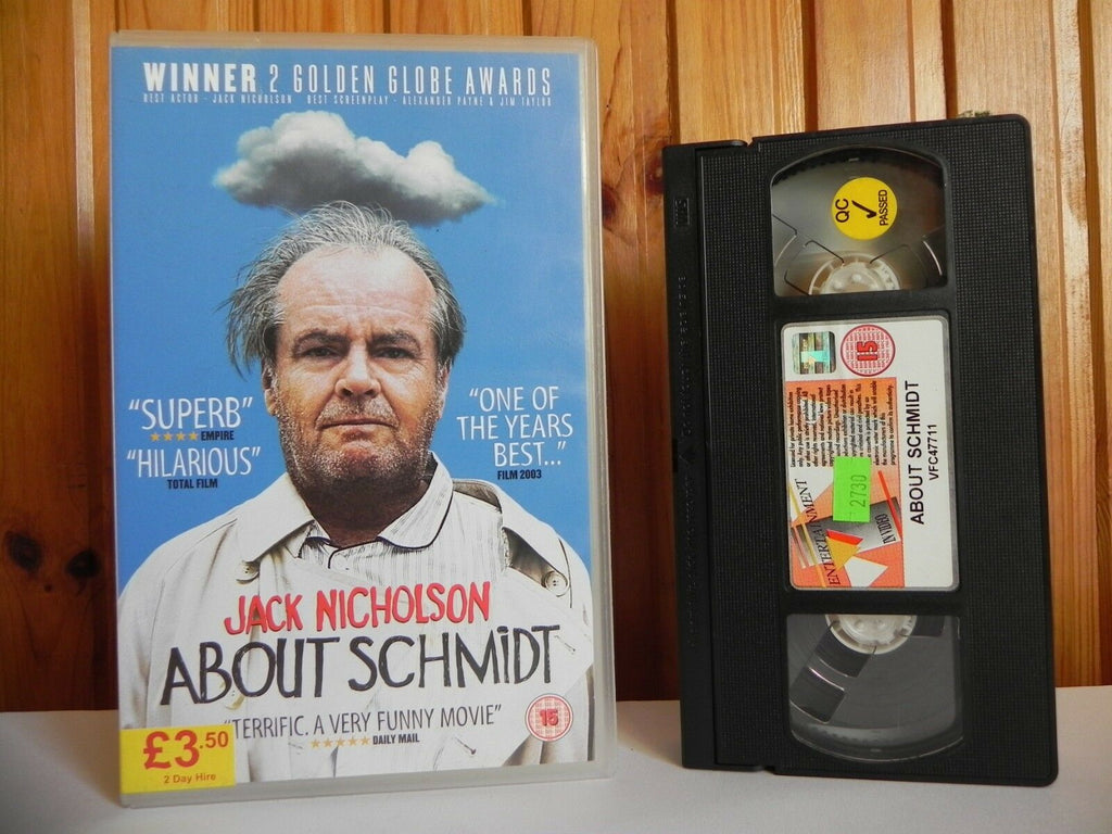 15, 2003, About, Alexander Payne, Box, Comedy, Dermot Mulroney, Drama, Entertainment, In, Large, Nicholson, PAL, Schmidt, VHS, Video