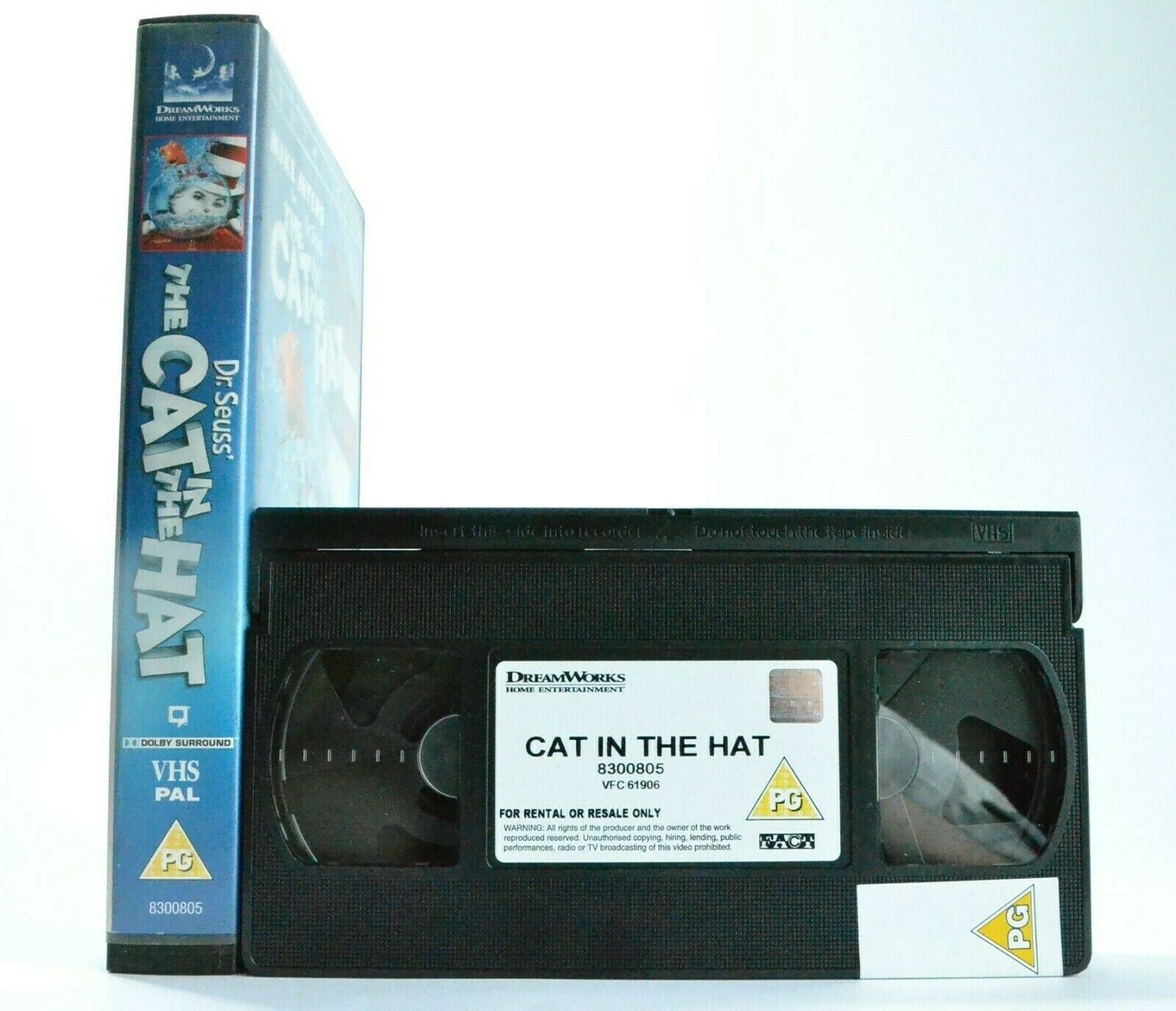 Dr.Seuss': The Cat In The Hat - Large Box Rental - Comedy - Children's - Pal VHS