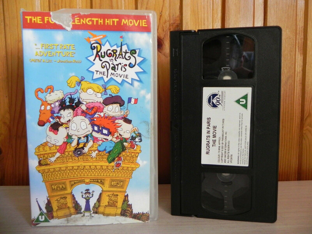 Rugrats In Paris: The Movie - Paramount - The Full Length Hit Movie - Pal VHS