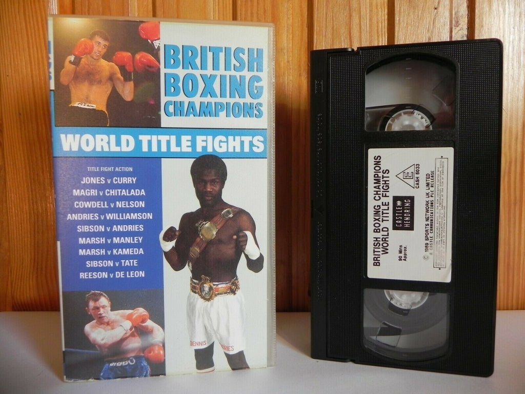 British Boxing Champions - World Title Fights - Jones - Curry - Nelson - VHS