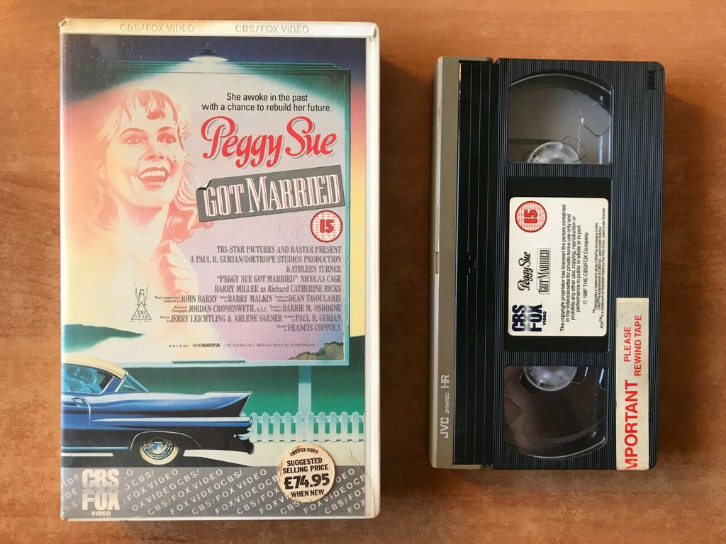 Peggy Sue Got Married; [Francis Ford Coppola] Comedy - Kathleen Turner - Pal VHS
