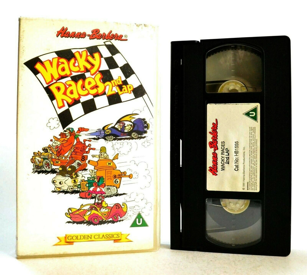 Wacky Races 2nd Lap - Hanna-Barbera Classic - Animated - Children's - Pal VHS