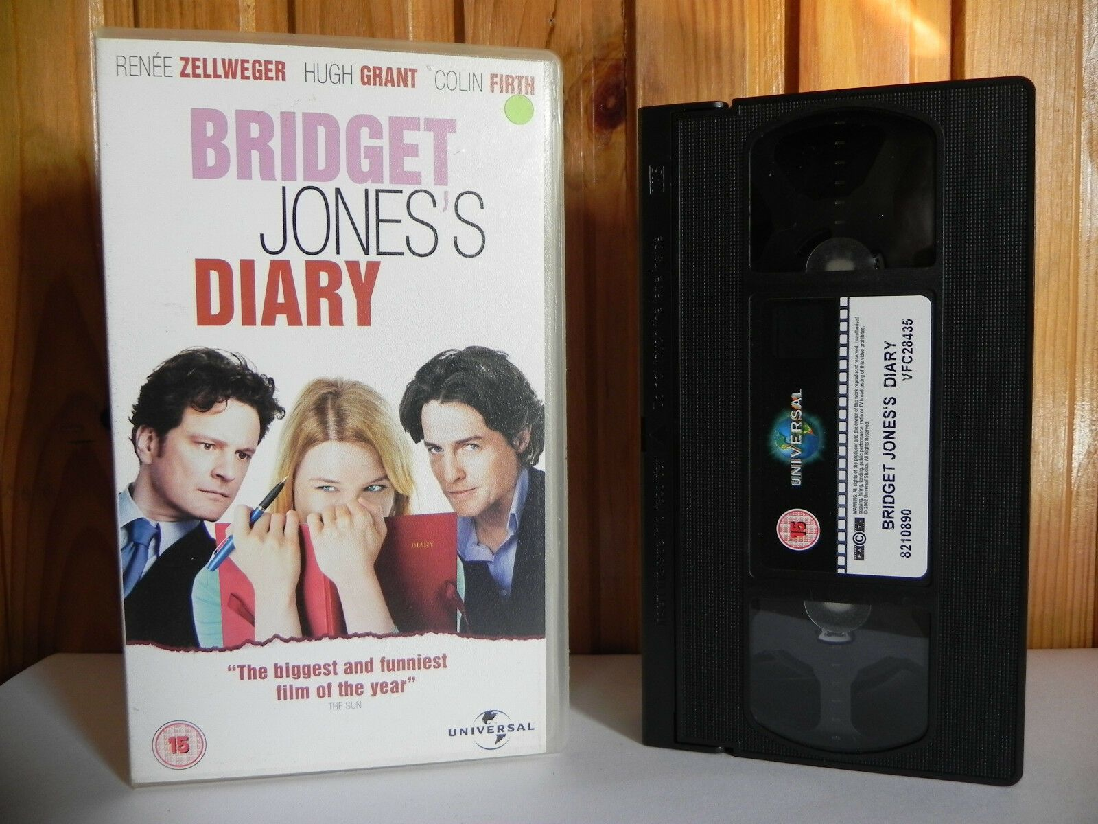 15, 2003, Bridget, Comedy, Diary, Grant, Honor Blackman, Hugh, PAL, Renee, Sharon Maguire, Universal, VHS, Zellweger