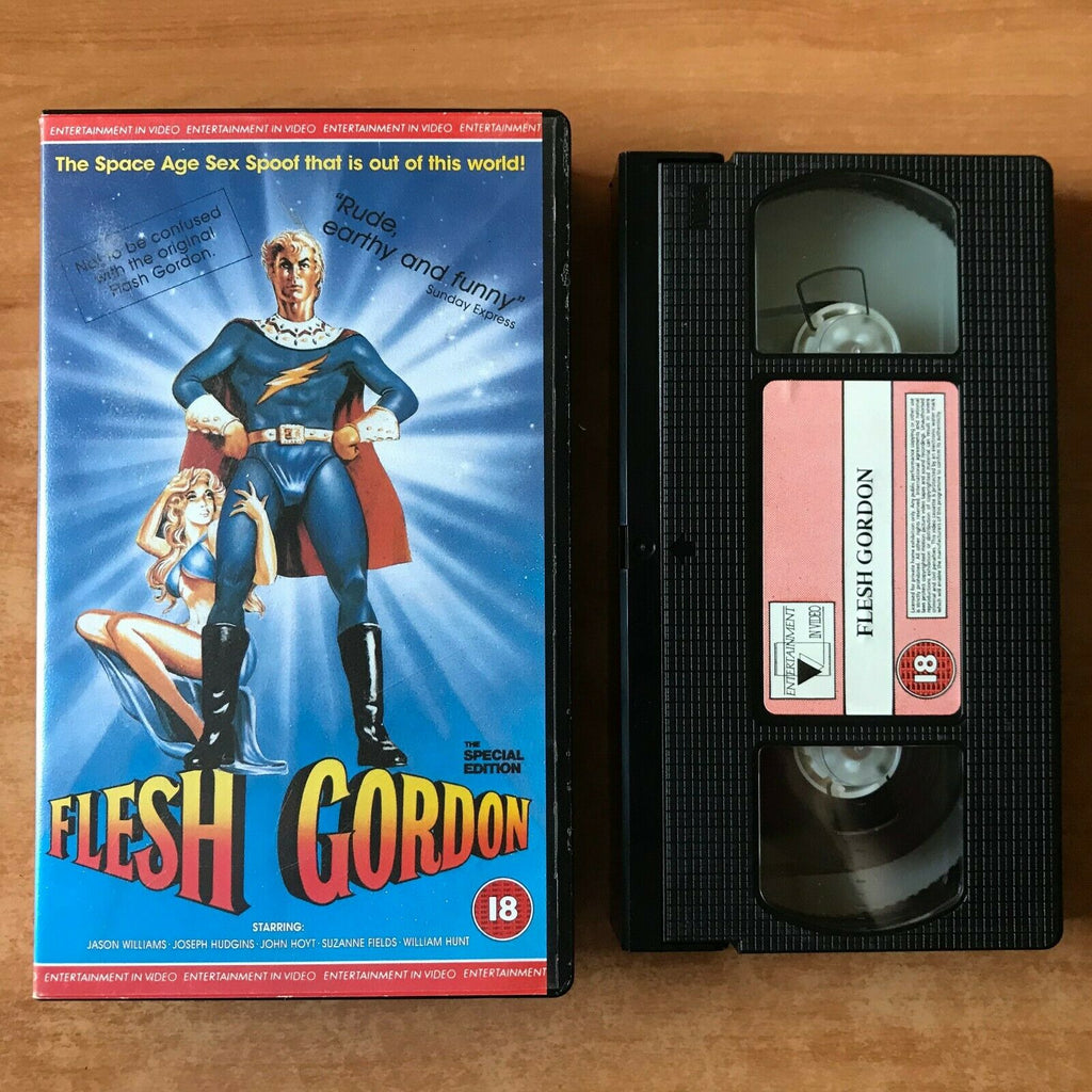 Action, Classic, Cult, Flesh, Flesh Gordon, Futuristic, Grindhouse, PAL, Sci-Fi & Fantasy, Spoof, VHS