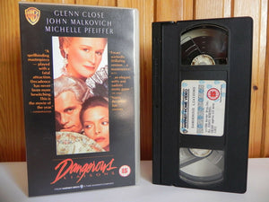 Dangerous Liaisons - Warner Home - Drama - Glenn Close - John Malkovich - VHS