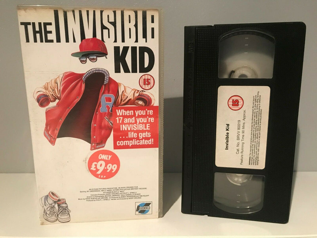 The Invisible Kid: Cult Sci-Fi Comedy - Jay Underwood / Wallace Langham - OOP VHS
