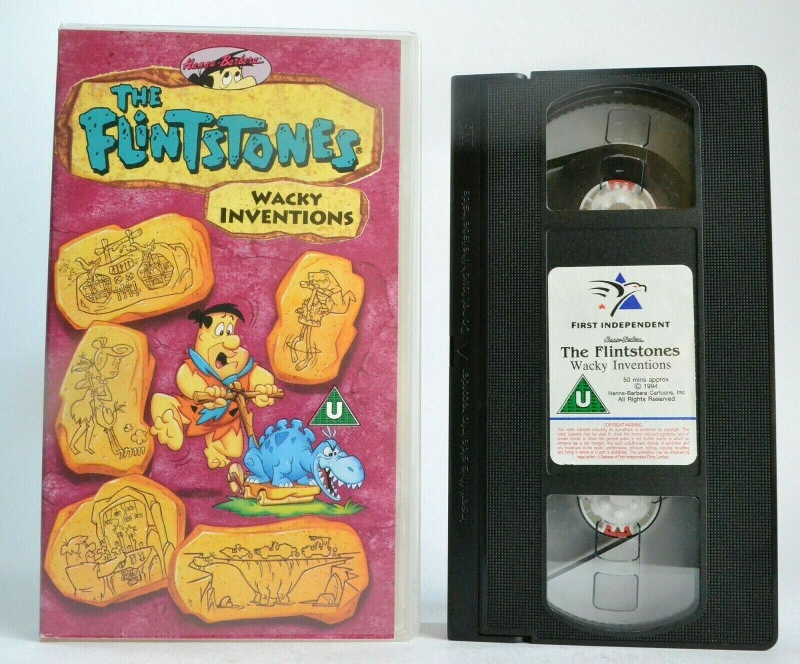 The Flintstones: Wacky Inventions (1994) - Animated Series - Children's - VHS