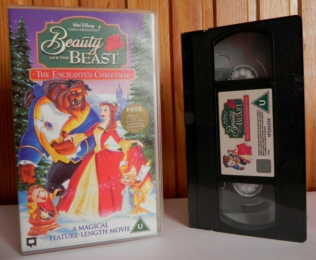 And, Beauty, Brand, Children's & Family, Christmas, Enchanted, New, Pal, Sealed, The, U, United Kingdom, VHS, Walt Disney