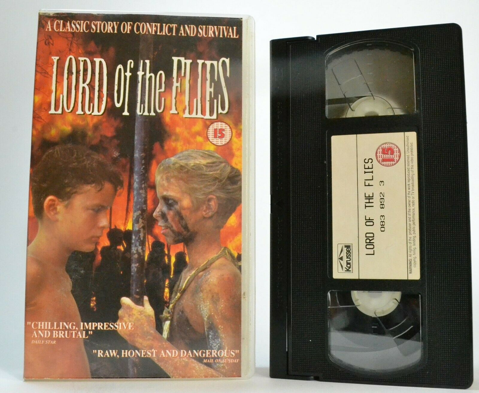 Lord Of The Flies (1990); [William Golding] - Survival Drama - Chris Furrh - VHS