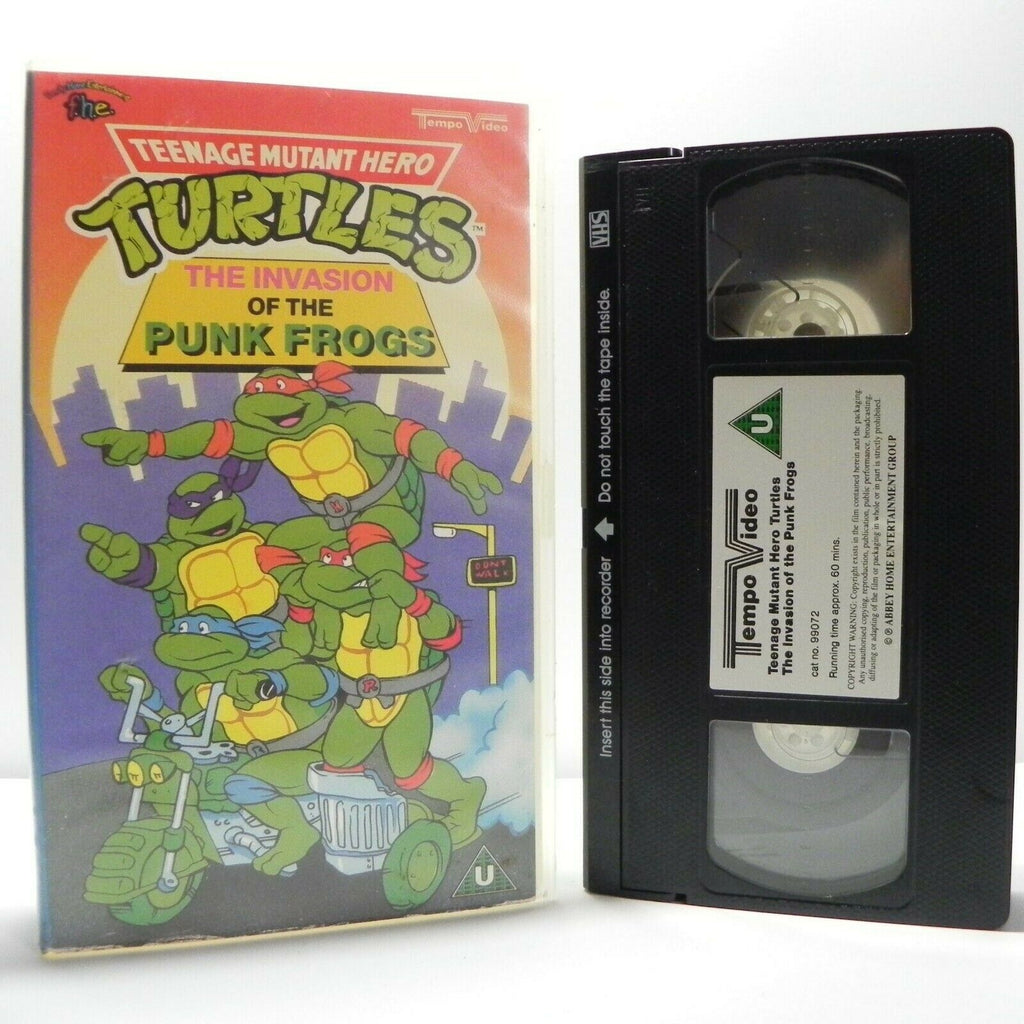 Teenage Mutant Hero Turtles: The Invasion Of The Punk Frogs - Animated - Pal VHS